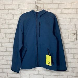 All in motion teal woven fleece jacket size small